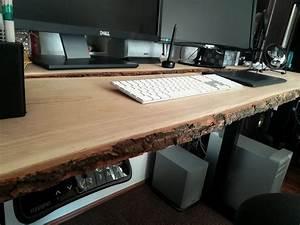 Schreibtisch Selbst Bauen : diy schreibtisch aus holzbohlen selber bauen creative ~ A.2002-acura-tl-radio.info Haus und Dekorationen