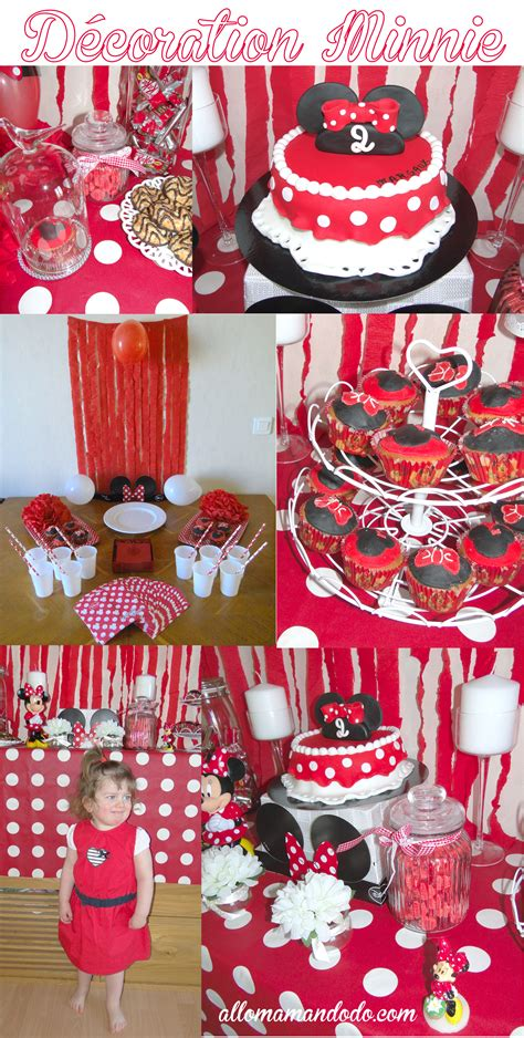 anniversaire minnie la decoration de la sweet table de