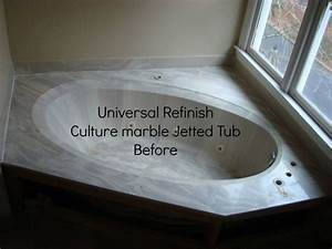Universal Refinish Before Culture Marble Jetted Tub