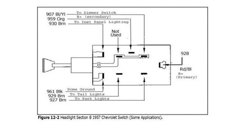 1957 Chevy Headlight Switch Diagram a 56 chevy headlight switch wiring diagrams