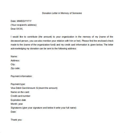 donation letter templates  sample  format