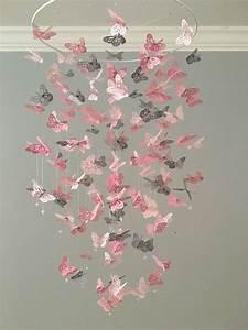 Lustre Bébé Fille : monarch butterfly chandelier mobile a touch of gray nursery mobile baby girl mobile photo ~ Teatrodelosmanantiales.com Idées de Décoration