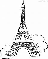 Eiffel Tower Coloring Pages Drawing Outline Paris Easy Printable Colouring 3d Line Tokyo Template Getdrawings Step Pencil Paper Clipartmag Printables sketch template