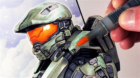 Lets Draw Master Chief From Halo Fan Art Friday Youtube