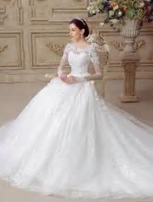 robe de marier pas cher belles robe de mariée 2016 a ligne de dentelle dos nu tulle robe de mariage avec des manches