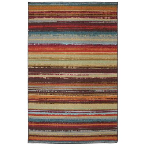 mohawk home avenue stripe 5 ft x 8 ft indoor outdoor