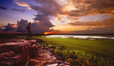 views  australia  ubirr sunset nt australian traveller
