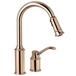 kitchen faucet with sprayer moen 7590cpr aberdeen copper pullout spray kitchen faucets efaucets