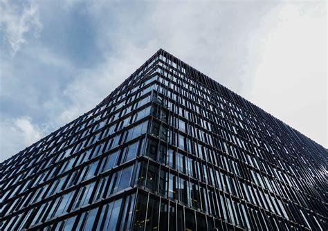 black glass building  stock photo