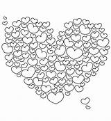 Coloring Pages Printable Heart Hearts Painter Job sketch template
