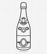Bottle Champagne Clipart Coloring Pinclipart sketch template