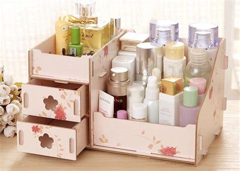Rak Kosmetik Bahan Plastik jual rak kosmetik bahan kayu desktop storage ukuran besar