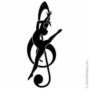 DANCE/DANCER MUSIC NOTE-VINYL WALL DECAL STICKER ART