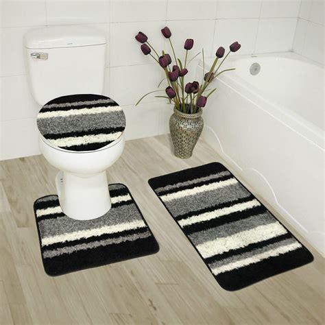 abby  piece bathroom rug set bath rug contour rug lid