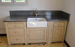 Recouvrir Plan De Travail Cuisine Adhesif : plan de travail en zinc pour cuisine plan de travail cuisine ~ Farleysfitness.com Idées de Décoration