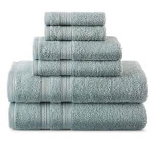 jcpenney home expressions 6 piece bath towel set only 17