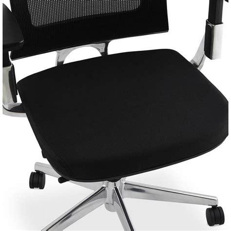 fauteuil de bureau tissu fauteuil de bureau ergonomique leo en tissu noir