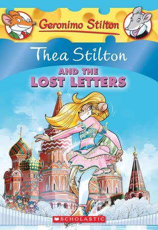 thea stilton   lost letters  thea stilton