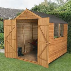 forest garden 8 x 6 overlap wooden apex door shed