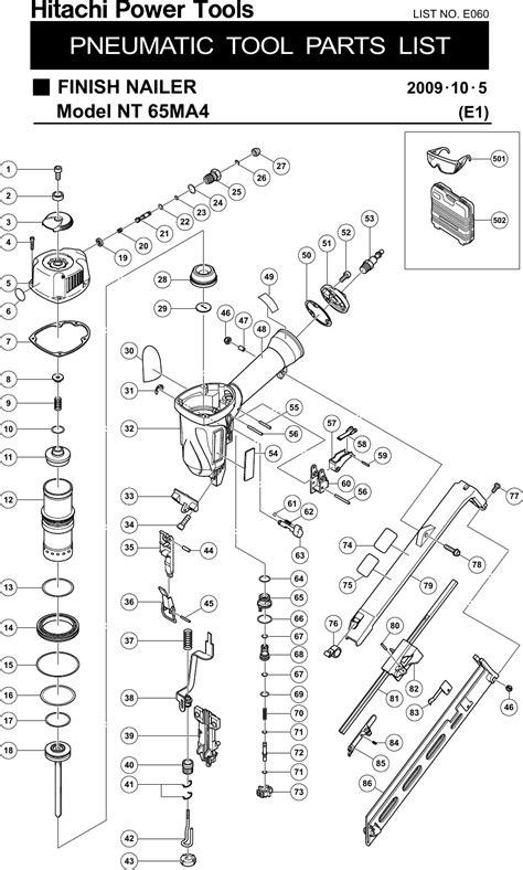 Hitachi Finish Nailer Nt 65Ma4 Users Manual NT65MA4_陦ィ邏・ai