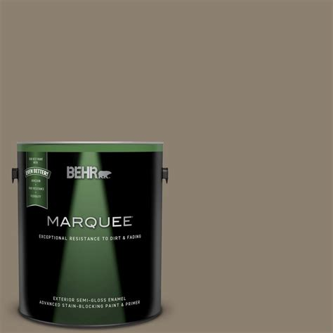 behr marquee 1 gal 720d 5 mocha accent gloss enamel exterior paint and primer in one