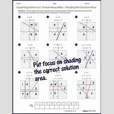 Graphing Systems Of Linear Inequalities By Algebra Simplified Tpt