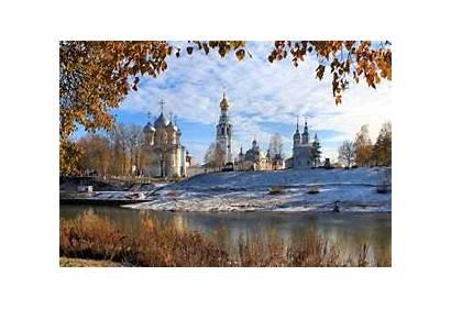 Russia Winter Landscape Snow Nature Cross River