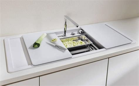 Enclosed Kitchen Sinks with Movable Cutting Boards and