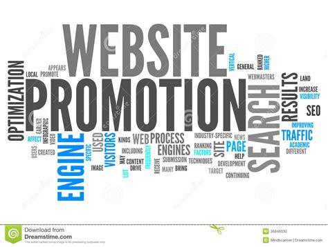 Website Promotion by Word Cloud Website Promotion Stock Illustration