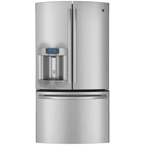 ge profile  cu ft french door refrigerator  ice maker stainless steel   french