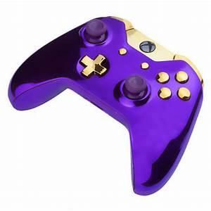 Xbox One Wireless Custom Controller Chrome Purple Gold