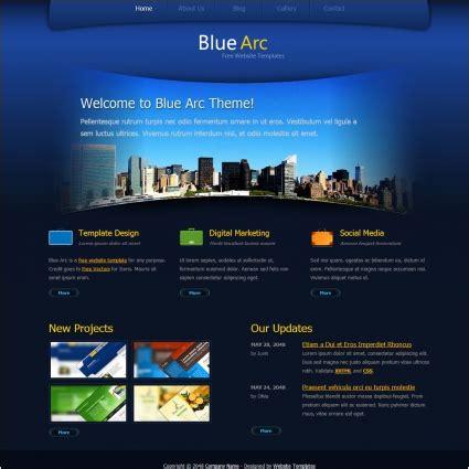 free website designer blue arc design free website templates in css html js format for free 1 60mb