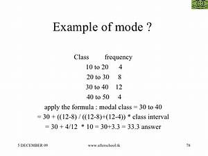 Mode Statistics Formula | www.pixshark.com - Images ...