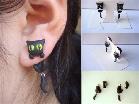 jewels cats holiday gift bff cats cat earrings