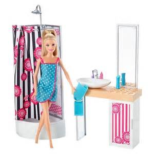 barbie doll and bathroom furniture set target