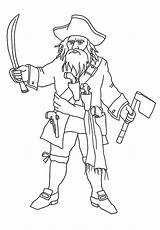 Coloring Pages Pirate Blackbeard Pirates Clip Beard Bard Template Pittsburgh Sketch Clipartqueen sketch template