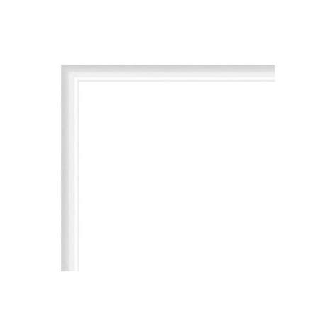 cadre photo sur mesure en aluminium blanc avec plexiglas et dos sur cadre photo eu