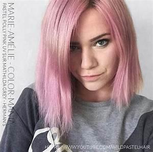Couleur Cheveux Pastel : coloration cheveux rose pastel polly pink uv herman 39 s amazing color mania ~ Melissatoandfro.com Idées de Décoration