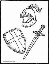 Bouclier Schwert Zwaard Kiddicolour épée Casque Armadura Kleurplaat Kleurprent Ritter Knights Kiddimalseite Colorier Ridders Malvorlagen Masque Chevaliers Ridder Epee Kleurplaten sketch template