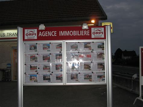 panneau vitrine agence immobiliere 28 images enseigne lumineuse led agence immobili 232 re