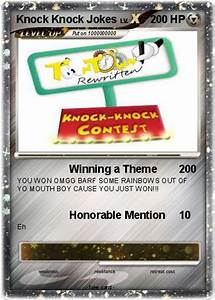 Poku00e9mon Knock Knock Jokes Winning A Theme My Pokemon Card