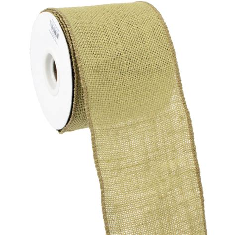 4 quot wired edge burlap ribbon natural 10 yards rw564618
