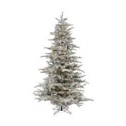 shop vickerman 12 ft pre lit flocked artificial christmas tree with warm white led lights at