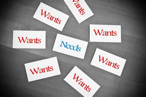 The Importance Of Choosing Between Your Needs And Wants  Time Management Ninja
