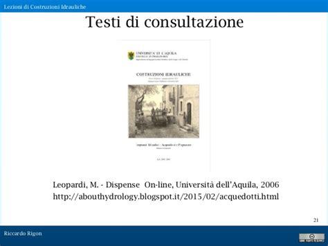 costruzioni idrauliche dispense introduzione alle lezioni 2017