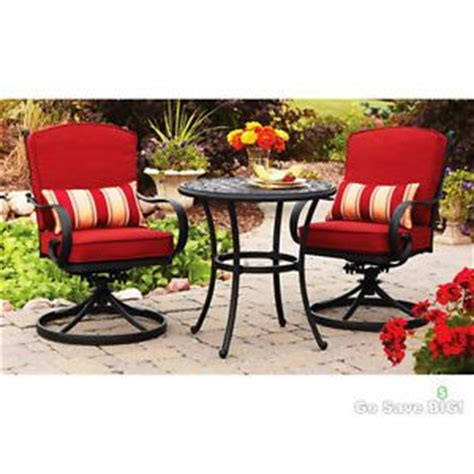 3 outdoor bistro set seats 2 swivel rocker
