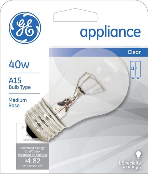 ge specialty bulb appliance clear 40 watt 1 bulb rite aid