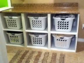 laundry basket shelf with wicker baskets or add doors???   For the Home   Pinterest ...