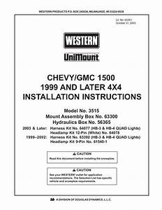 Complete Western Installation Instructions For This Mount
