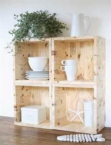 Cube Etagere Bois : etag res cubes en bois esprit cabane idees creatives et ecologiques ~ Teatrodelosmanantiales.com Idées de Décoration